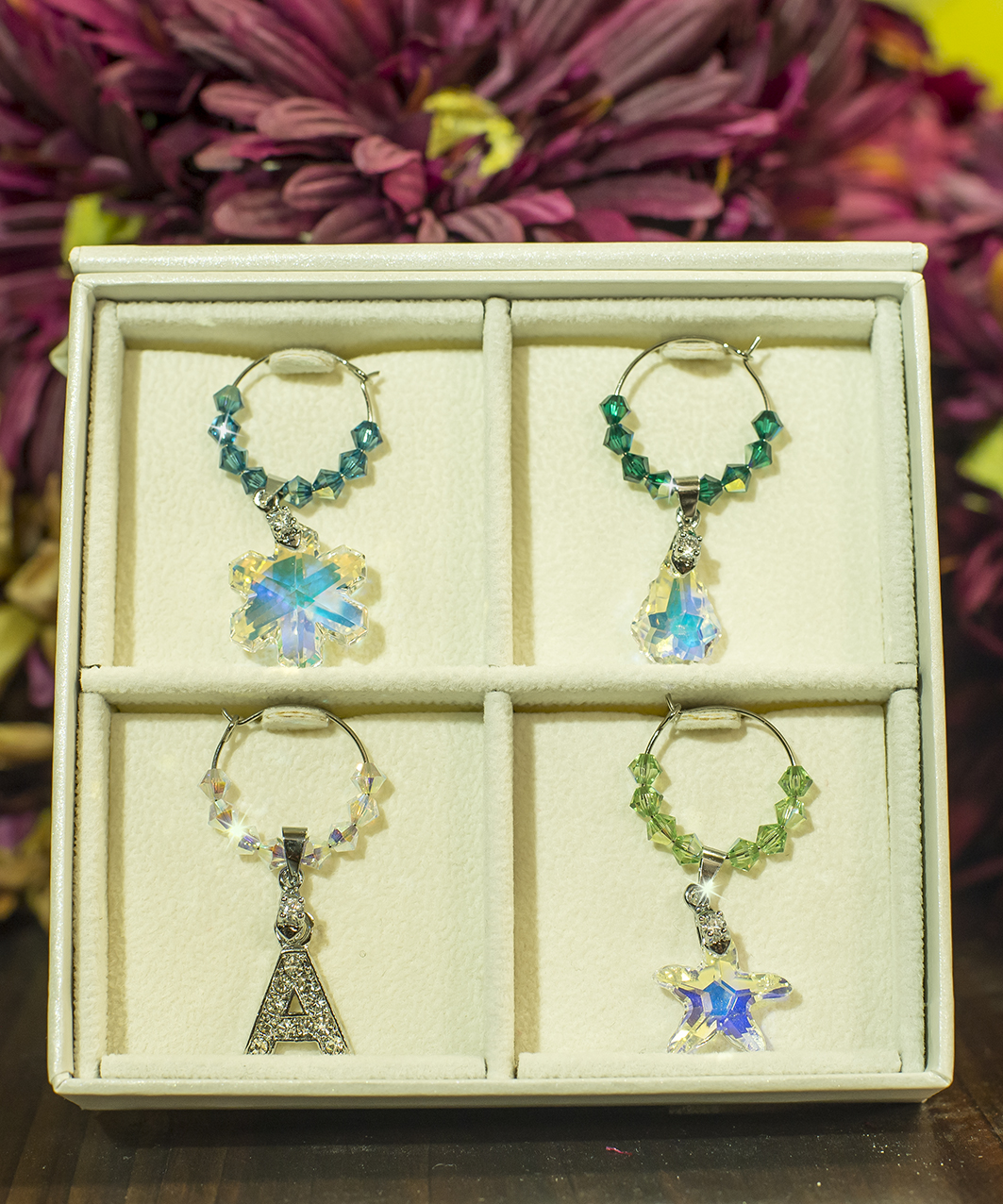 Crystal Wine Charms