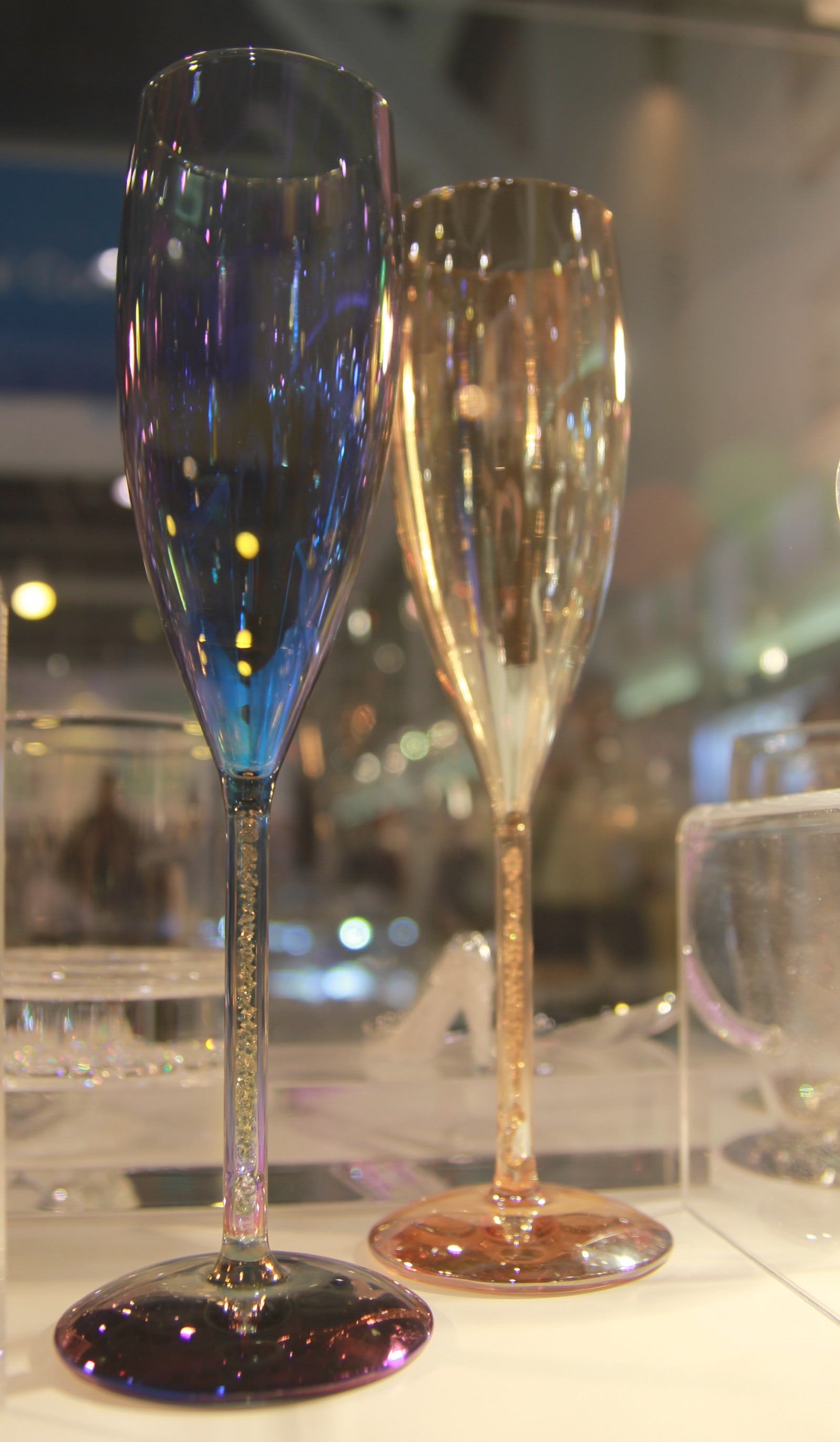 Metallic Champagne Glasses